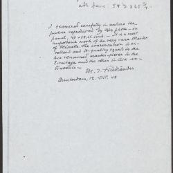 Image for K1646 - Expert opinion by Friedlaender, 1948