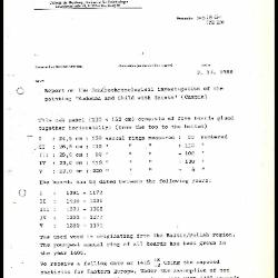 Image for K1646 - Scientific analysis report, 1986