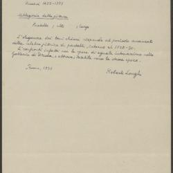 Image for K0272 - Expert opinion by Longhi, 1933