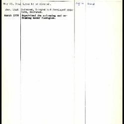 Image for K0272 - Work summary log, 1941-1959