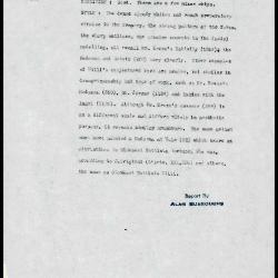 Image for K0326 - Alan Burroughs report, circa 1930s-1940s