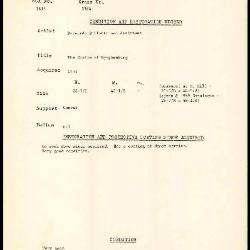 Image for K1864 - Condition and restoration record, circa 1950s-1960s