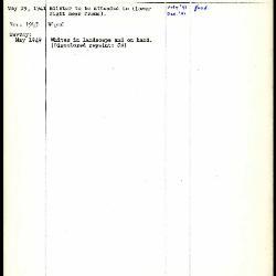 Image for K0474 - Work summary log, 1941-1949