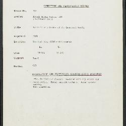 Image for K0167 - Condition and restoration record, circa 1950s-1960s