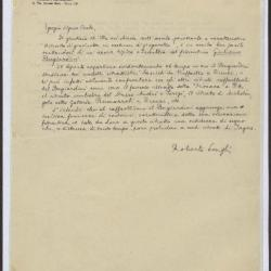 Image for K0049 - Expert opinion by Longhi, circa 1920s-1950s