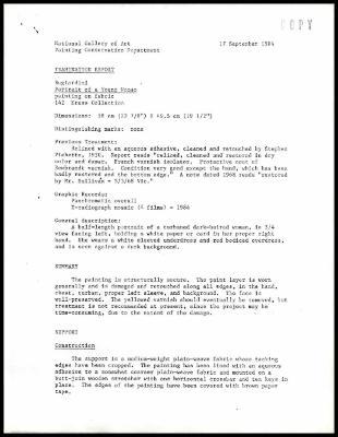 Image for K0049 - Examination summary, 1984