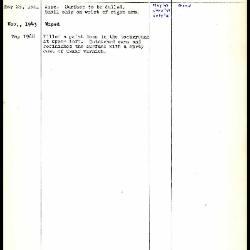 Image for K0049 - Work summary log, 1941-1968