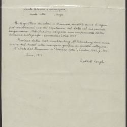Image for K0246 - Expert opinion by Longhi, 1933