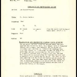 Image for K1661A - Condition and restoration record, circa 1950s-1960s