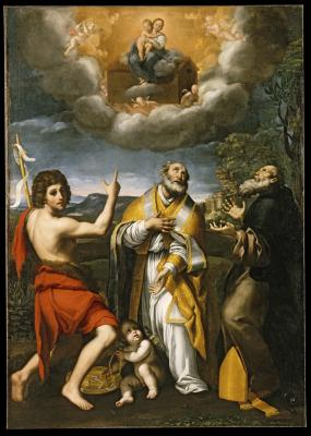 Image for The Madonna of Loreto Appearing to Saint John the Baptist, Saint Eligius, and Saint Anthony Abbot
