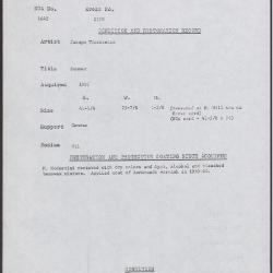 Image for K2170 - Condition and restoration record, circa 1950s-1960s