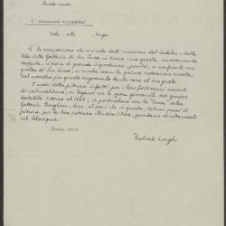 Image for K0258 - Expert opinion by Longhi, 1933