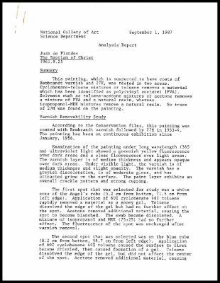 Image for K1945 - Scientific analysis report, undated
