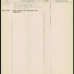 Image for K1871 - Work summary log, 1953-1959