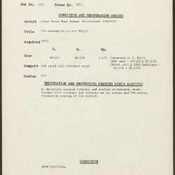 Image for K1871 - Condition and restoration record, circa 1950s-1960s