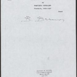 Image for K0230 - Expert opinion by Berenson, circa 1920s-1950s