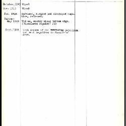 Image for K0147 - Work summary log, 1943-1969