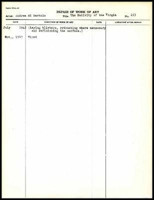 Image for K0085 - Work summary log, 1942-1943