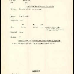 Image for K1865 - Condition and restoration record, circa 1950s-1960s