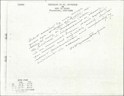Image for K1003 - Expert opinion by Perkins, circa 1920s-1940s