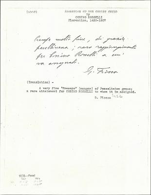 Image for K1002 - Expert opinion by Fiocco, circa 1930s-1940s