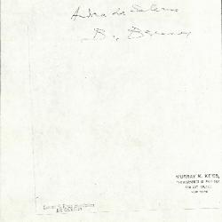 Image for K1008 - Expert opinion by Berenson, circa 1920s-1950s