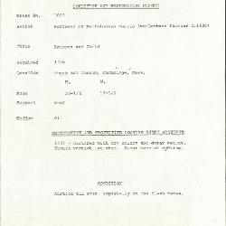 Image for K1009 - Condition and restoration record, circa 1950s-1960s