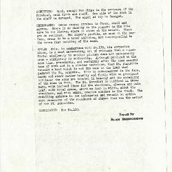 Image for K0101 - Alan Burroughs report, circa 1930s-1940s