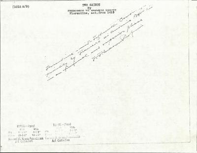 Image for K1015A - Expert opinion by Perkins, circa 1920s-1940s