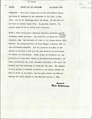 Image for K1006 - Alan Burroughs report, circa 1930s-1940s