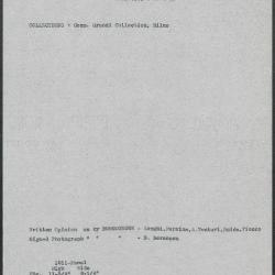 Image for K1011 - Art object record, circa 1930s-1950s