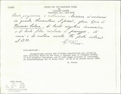 Image for K1006 - Expert opinion by Fiocco, circa 1930s-1940s