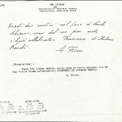 Image for K1015A - Expert opinion by Fiocco, circa 1930s-1940s
