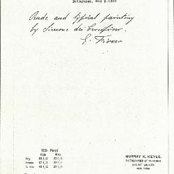 Image for K0102 - Expert opinion by Fiocco, circa 1930s-1940s