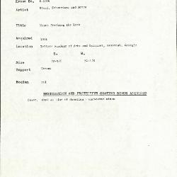 Image for K1026 - Condition and restoration record, circa 1950s-1960s