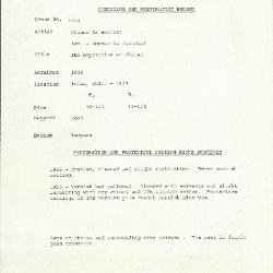 Image for K1024 - Condition and restoration record, circa 1950s-1960s