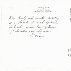 Image for K0103 - Expert opinion by Fiocco, circa 1930s-1940s