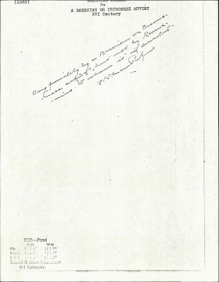 Image for K1033 - Expert opinion by Perkins, circa 1920s-1940s
