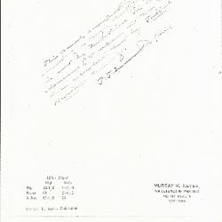 Image for K0104 - Expert opinion by Perkins, circa 1920s-1940s