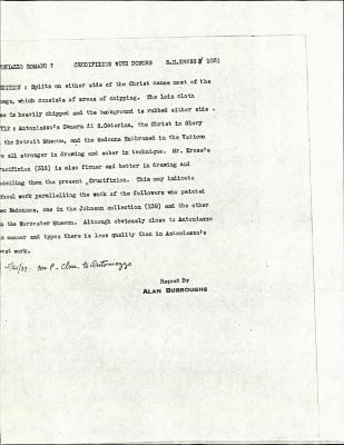 Image for K1031 - Alan Burroughs report, circa 1930s-1940s
