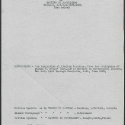 Image for K0104 - Art object record, circa 1930s-1950s