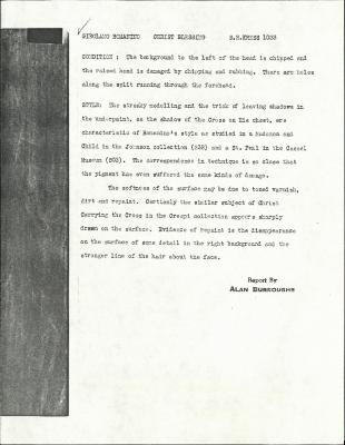 Image for K1033 - Alan Burroughs report, circa 1930s-1940s