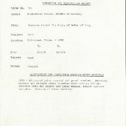 Image for K0103 - Condition and restoration record, circa 1950s-1960s