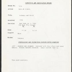 Image for K1036 - Condition and restoration record, circa 1950s-1960s