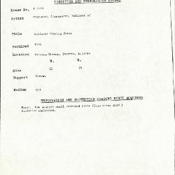 Image for K1029 - Condition and restoration record, circa 1950s-1960s