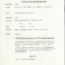Image for k1028 - Condition and restoration record, circa 1950s-1960s