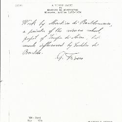 Image for K0104 - Expert opinion by Fiocco, circa 1930s-1940s