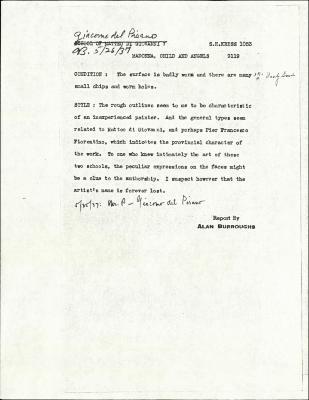 Image for K1053 - Alan Burroughs report, circa 1930s-1940s