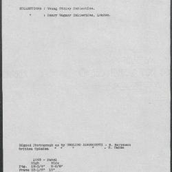 Image for K1045 - Art object record, circa 1930s-1950s
