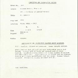Image for K1047 - Condition and restoration record, circa 1950s-1960s
